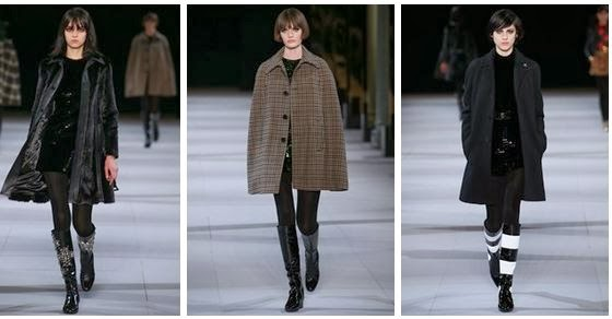 Desfile da Saint Laurent no Paris Fashion Week inverno 2014-15