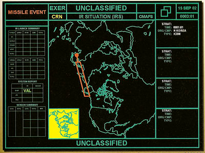 Missile Tracking Screen - NORAD