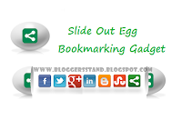 Social Media Slide Out Egg Bookmark Widget