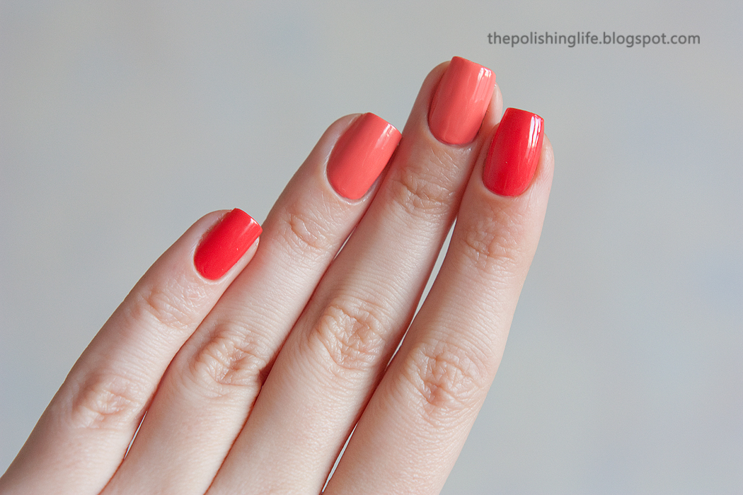 Morgan Taylor Sweet Escape & Candy Coated Coral