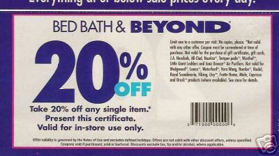 Bed Bath And Beyond Coupon Printable May