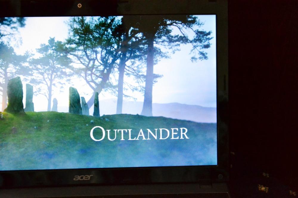 outlander tv show laptop