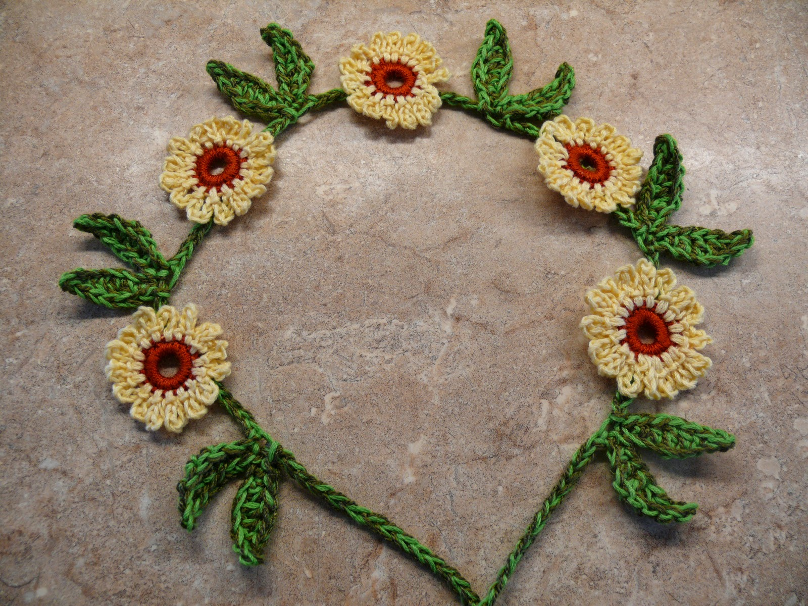 Funky Daisy Chain Crochet Pattern Picture Collection - Sewing ...