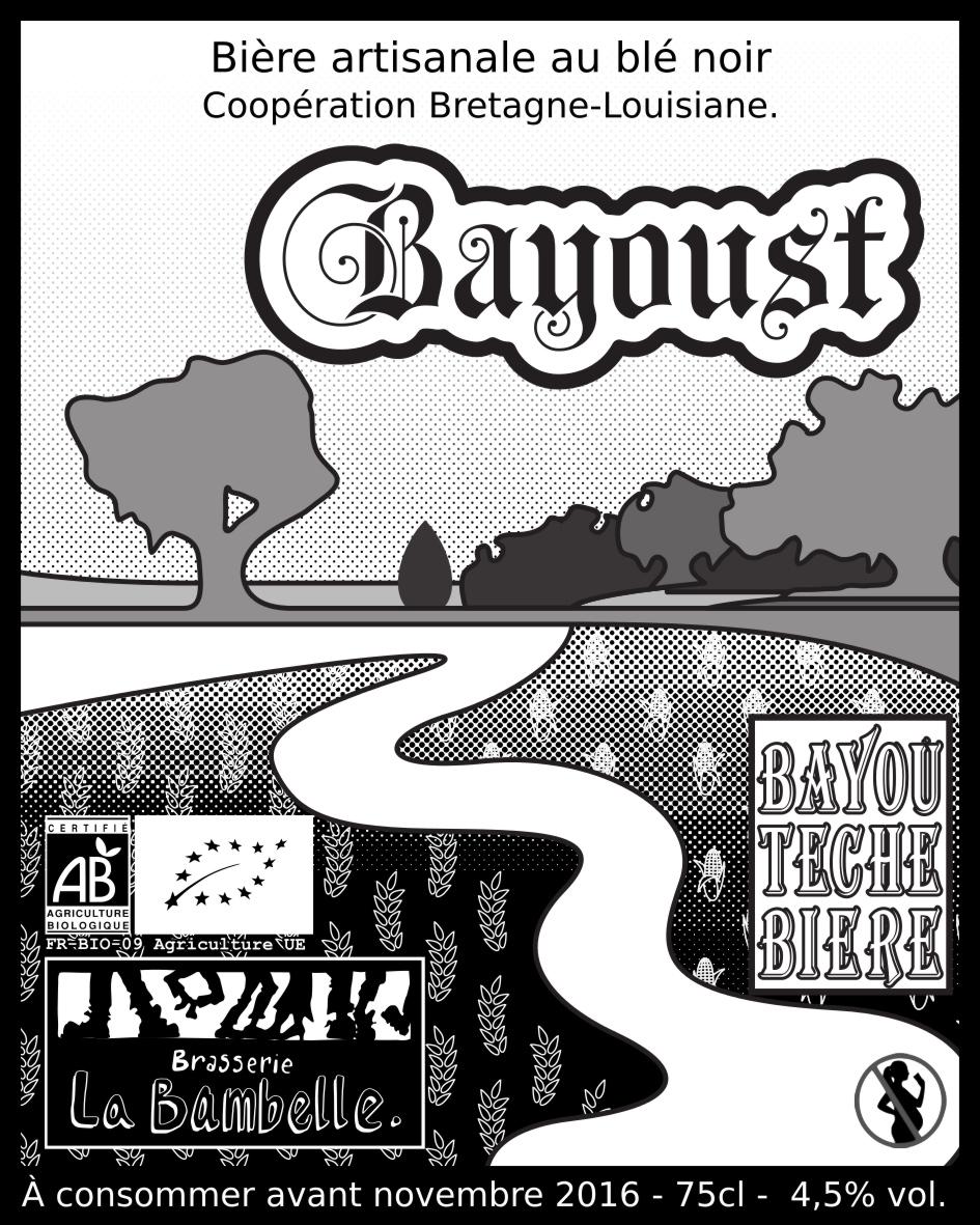 Bière La Bayoust Bière de copération Bretagne Louisiane  4.5% 75 cL