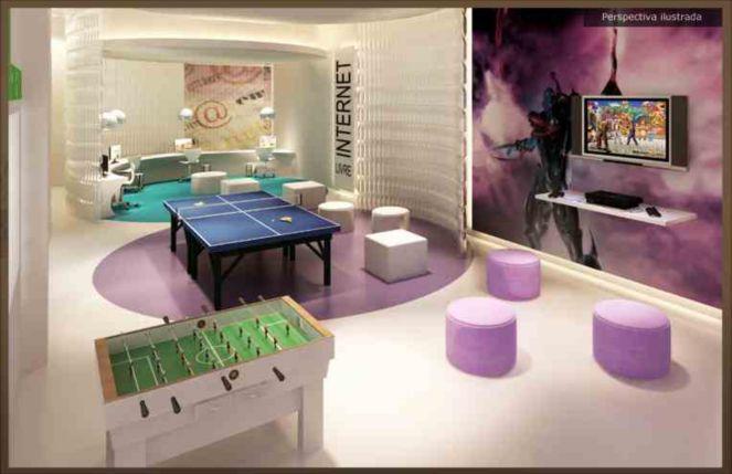 Sala de Jogos Alpha_Square_Residencial_Garden_Salao_de_Jogos_Infantil_amp