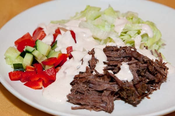 pulled beef lchf