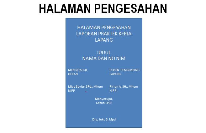 Panduan Laporan Praktek Kerja Lapang Fakultas Hukum Universitas Kanjuruhan Malang 171 Antonius