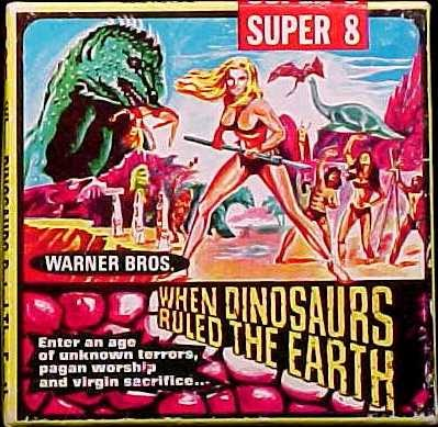 When Dinosarus Ruled The Earth (1970) Super 8mm film reel box