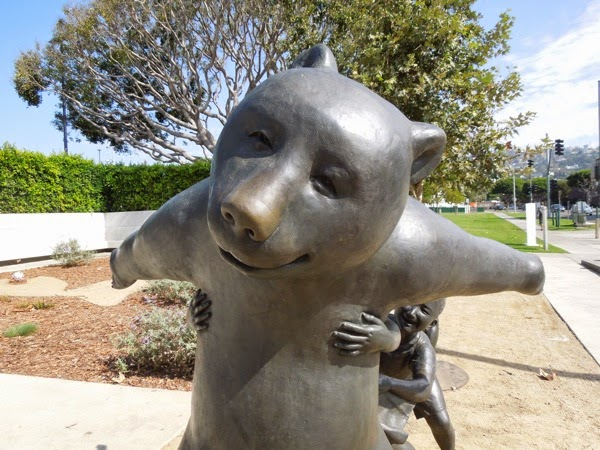 The Game bear bronze sculpture West Hollywood Park