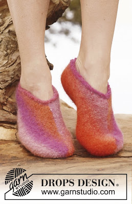 Garnstudio felted slippers