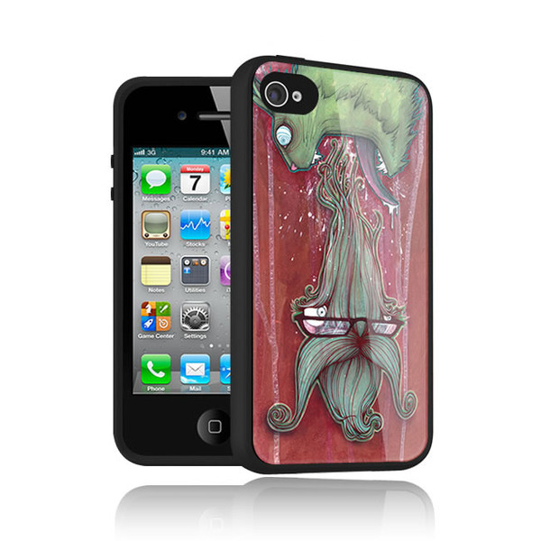 Hairball One art case for iPhone 4 by Ben Wilson