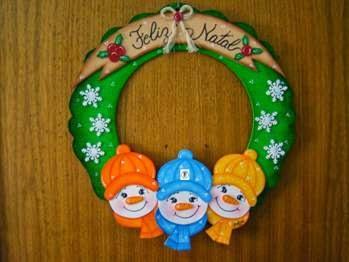 Enfeite de porta com EVA para o natal