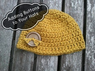 http://www.happybabycrochet.com/2011/06/adding-buttons-to-your-hats-tutorial.html