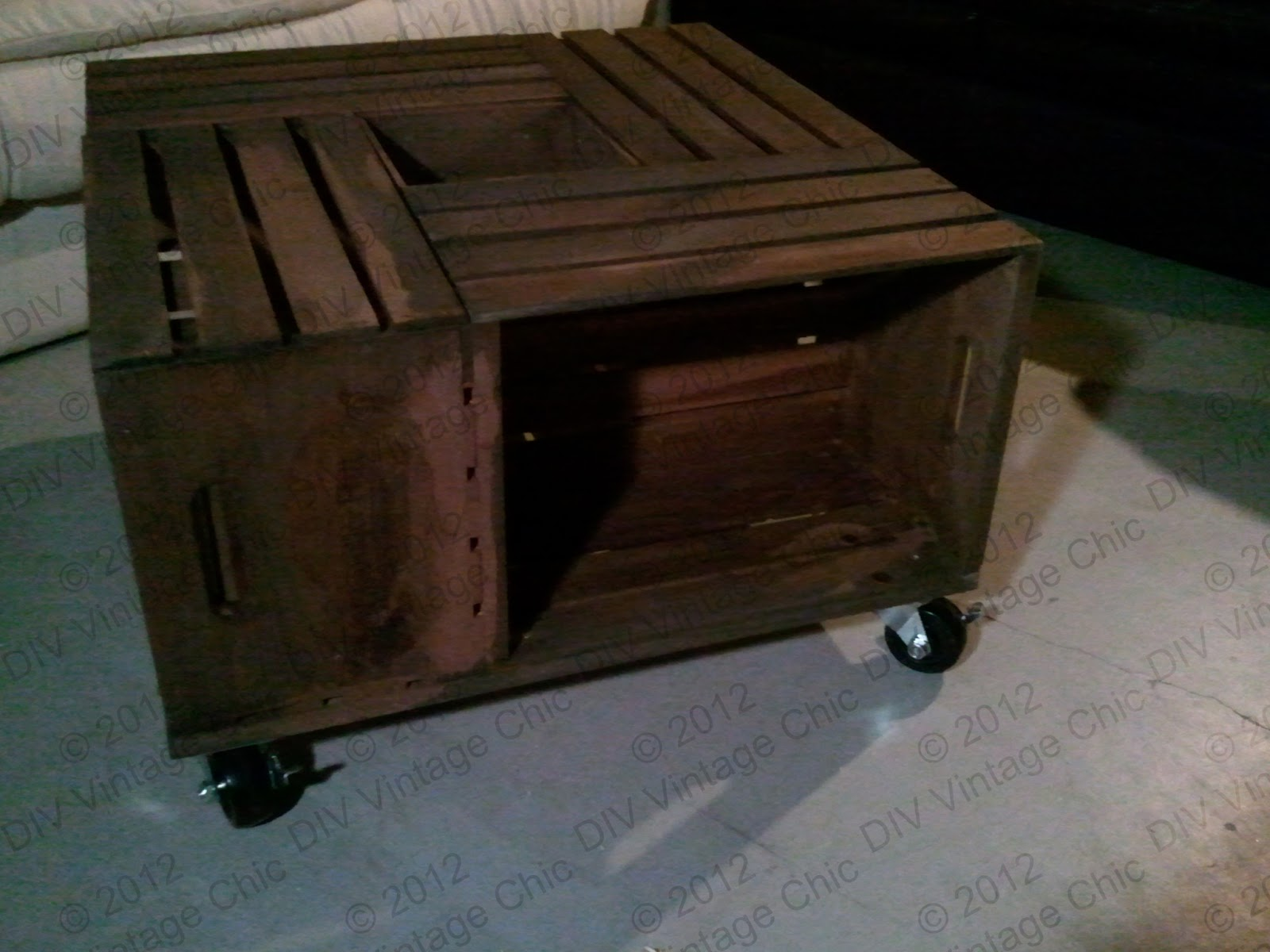 Dog Crate Coffee Table Diy Vintage Chic Wine Crate Coffee Table