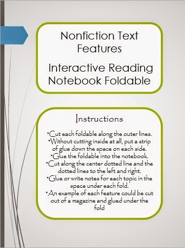 http://www.teacherspayteachers.com/Product/Nonfiction-Text-Features-Foldable-for-Interactive-Reading-Notebooks-1529685
