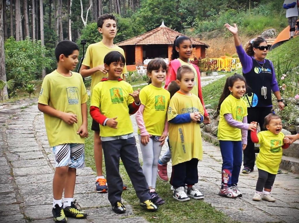 Atletas mirins participantes da prova infantil no Carioca de Corridas de Montanha