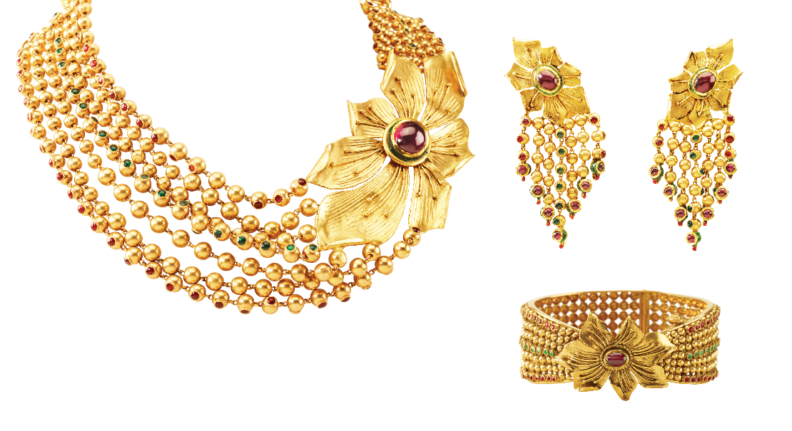 Simple gold ornaments for wedding the for Simple gold ornaments