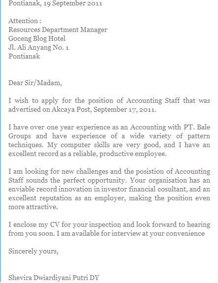 letter for job application as a teacher