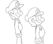 #14 Luigi Coloring Page