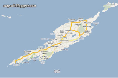 Anguilla Map Political and Region