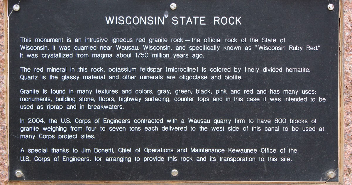Wisconsin Historical Markers Wisconsin State Rock