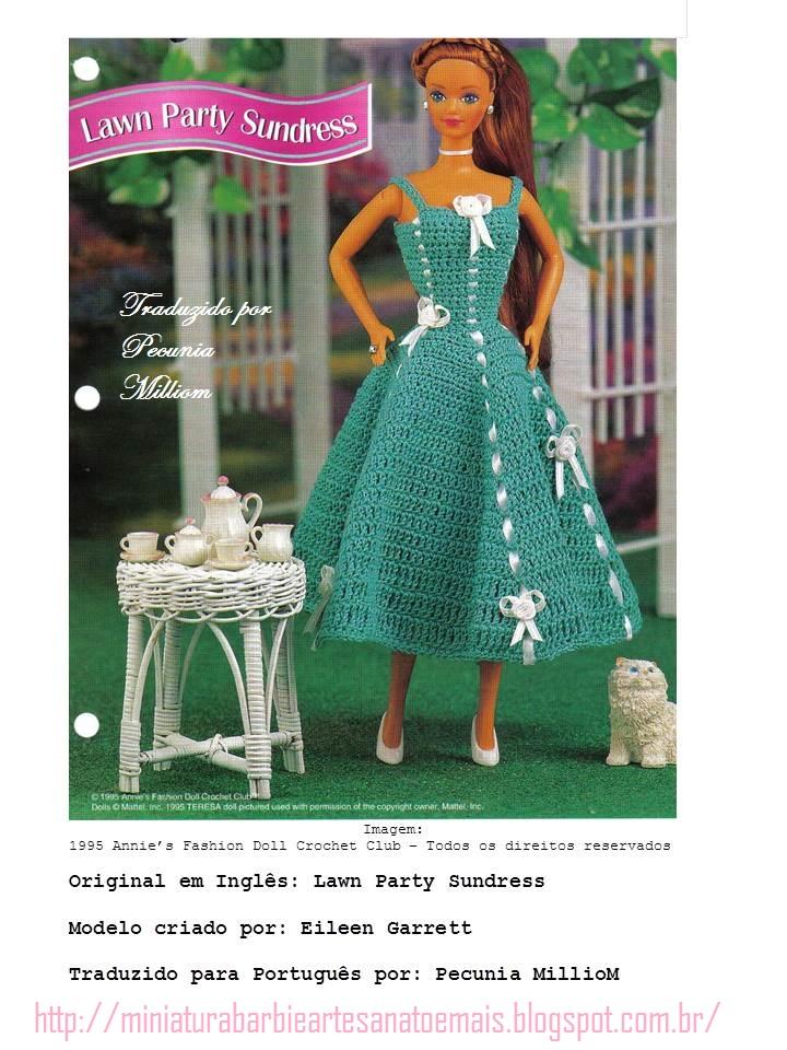 Aparador Jacauna ~ Barbie Croch u00ea Miniaturas Artesanato e Coisas Mais [Barbie