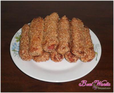 Resepi Roti Gulung Oat Simple Sedap Senang. Cara Mudah Buat Roti Telur Gulung Oat. Roti Fish Chip Prawn Chip Sosej Crab Stick Sedap Best