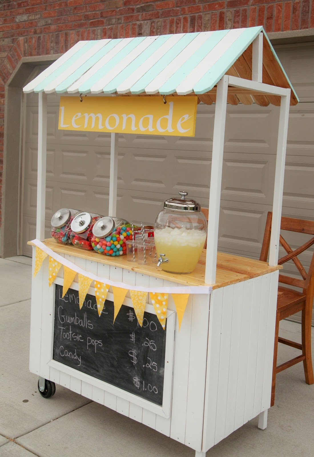 Lemonade stand creamy style for Kids lemonade stand plans