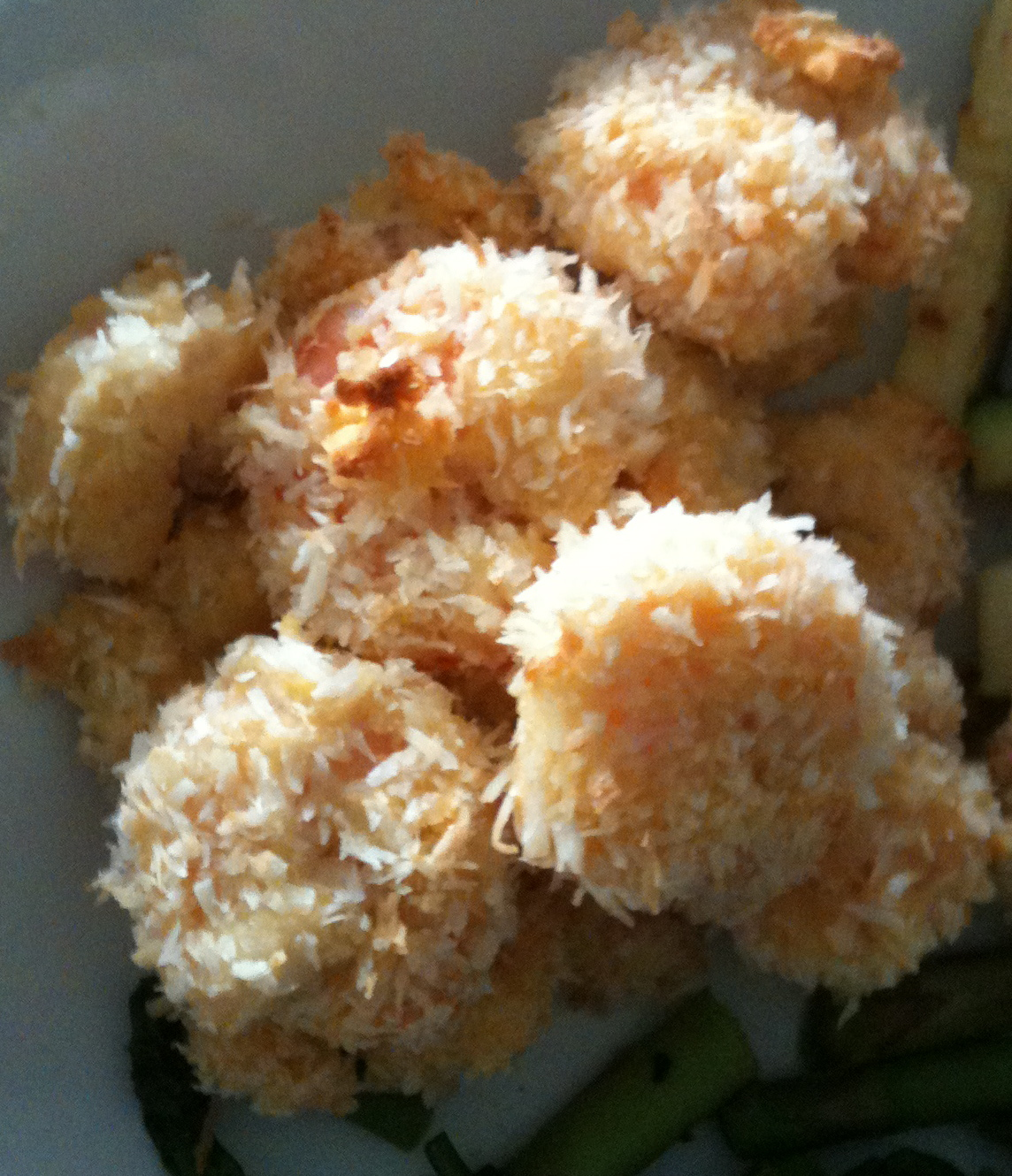 ingredients 1 4 cup coconut flour 1 large egg 1 cup shredded coconut ...