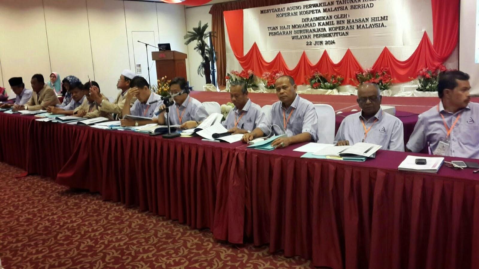 Mesyuarat Agung KOSPETA 22/06/2014 di Kuala Trengganu 2014
