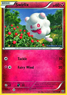 Swirlix Pokemon X and Y Card
