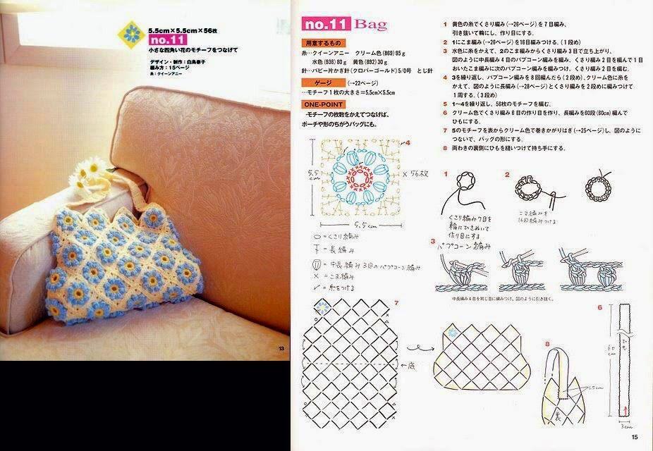 Bolso tejido con ganchillo | Crochet y Dos agujas - Patrones de tejido