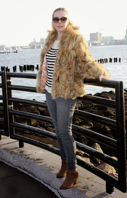 Vintage Fox Fur Jacket How to wear Fur in Boston