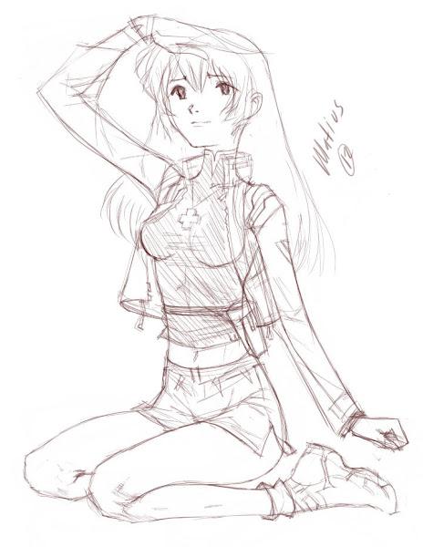 misato katisuragi dibujo draw