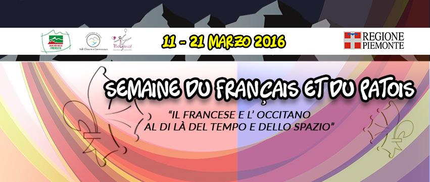 Semaine du Français et du Patois 2016