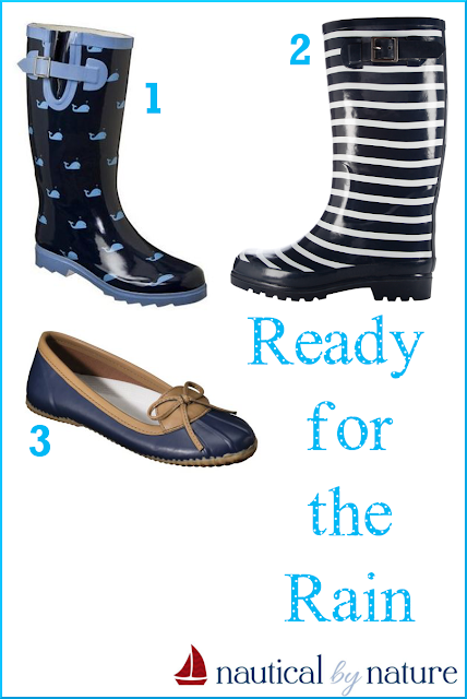 Nautical by Nature blog: Nautical rain boots