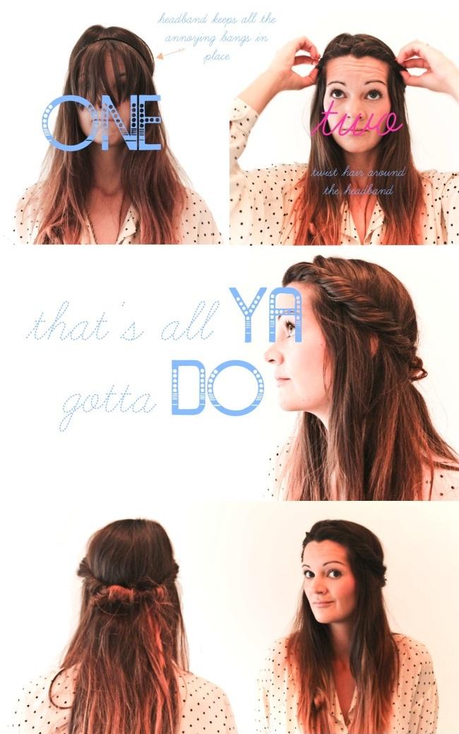 ... Hair Style using a headband step-by-step tutorial   Beauty Tutorials