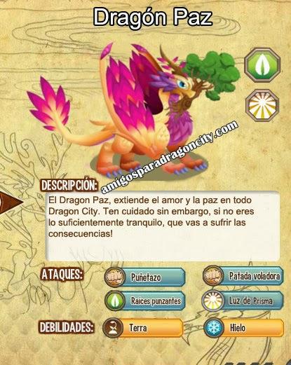 imagen de las caracteristicas del dragon paz