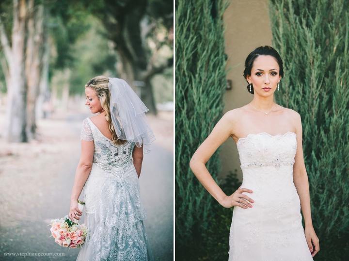 """chic outdoor bridal photos san francisco and los angeles"""