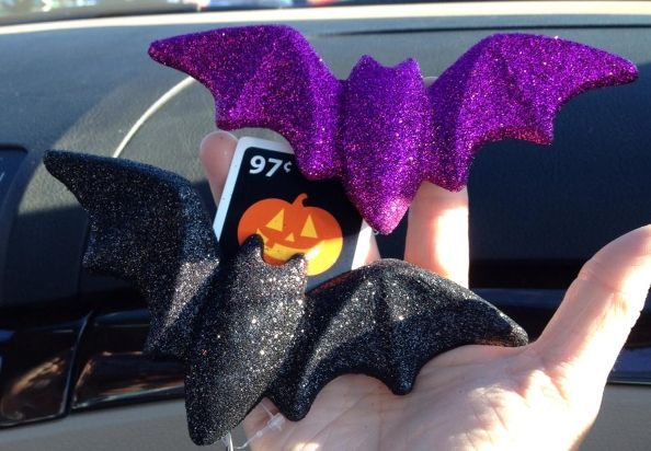 i found these glitter halloween clip ons at walmart for only 97 cents each oh the possibilities - Glitter Halloween Decorations