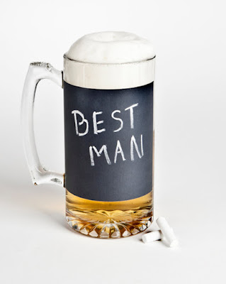 Chalkboard Beer Mug - a unique groomsmen gift glass jug
