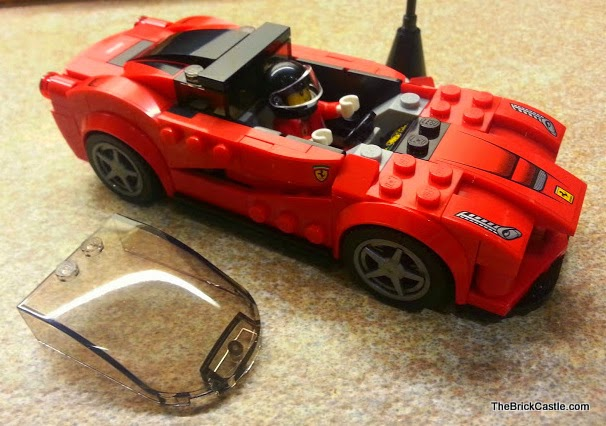 LEGO vehicles Ferrari set 75899 LaFerrari model car removeable windscreen