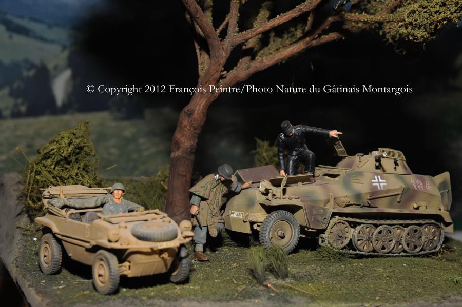 Sd Kfz 250/9 et schwimmwagen en Normandie