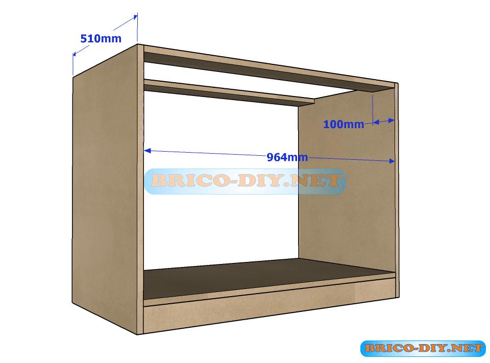 Plano y medidas como hacer una comoda con gavetas de mdf for Como armar muebles de mdf
