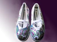 Sepatu Lukis jean 202 Cewek  Rp 125 000