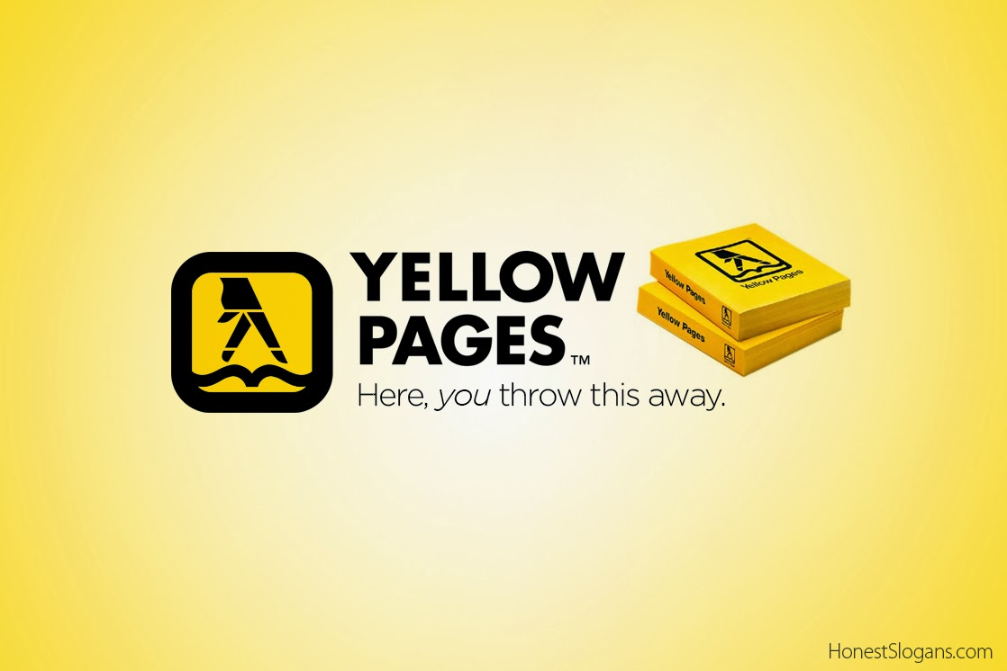 Honest Slogans - Yellow Pages
