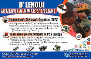 INSTALACIÓN CAMARA DE SEGURIDAD Y REPARACIÓN DE LAPTOPS