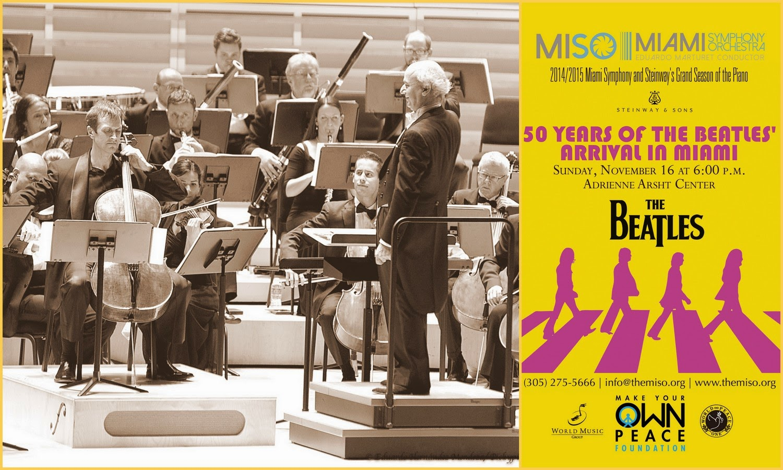 La Orquesta Sinfónica de Miami Celebra 50  Años de Los Beatles con Estrenos Mundiales