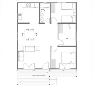 Plano casa de madera prefabricada 73 m2 planos de casas - Planos casa de madera ...