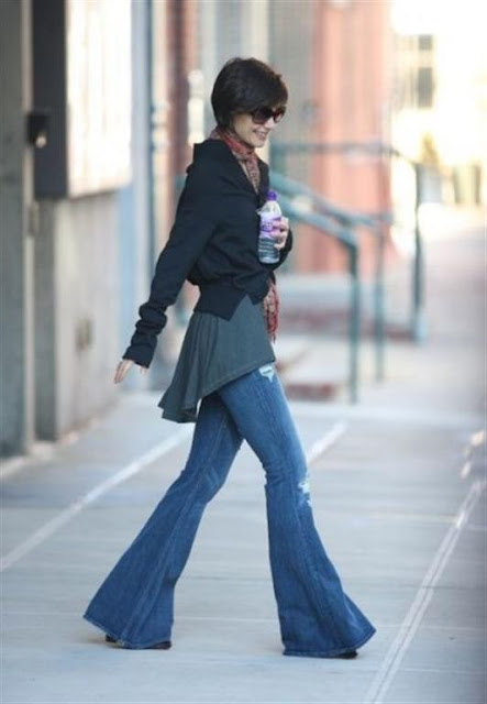 Girls Fashionable bell Bottom Jeans